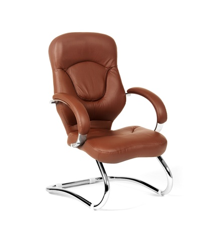 The office chair from brown leather Stock Photo - 17908678