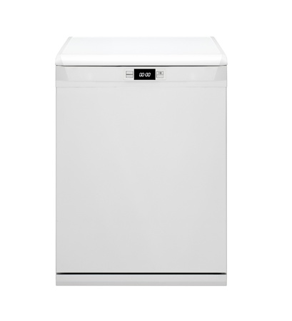 modern dishwasher isolated on white photo