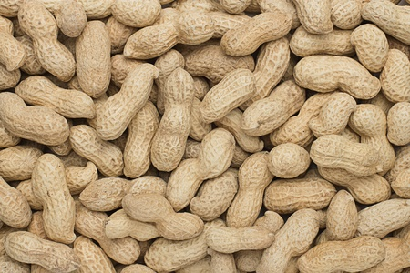 close-up of some peanuts. background photo