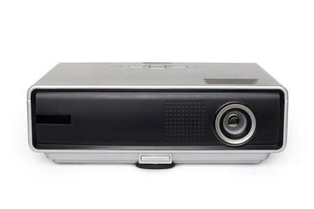 multimedia projector on white background photo