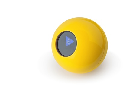 the yellow magic 8 ball photo