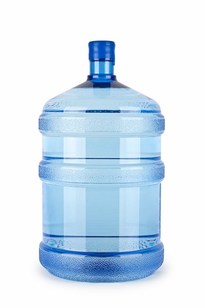 bottle with water: A large bottle of pure water on a white background
