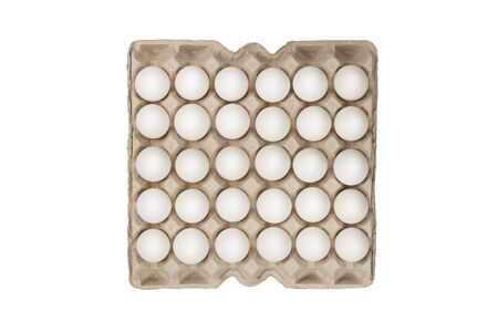 twenty four of white eggs in box photo