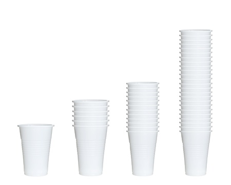 collection of plastic cups photo