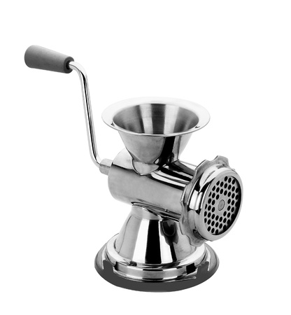meat grinder on a white background Stock Photo
