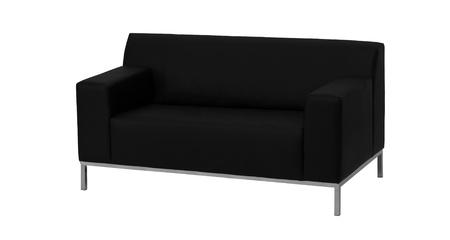 modern black leather sofa isolated against white background photo