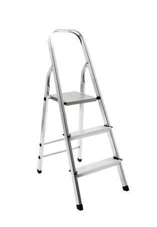 reachability: metal ladder isolated on white with clipping path
