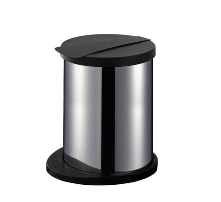 overfilled:  office trash can Stock Photo