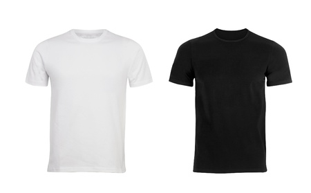 Black and white man T-shirt photo