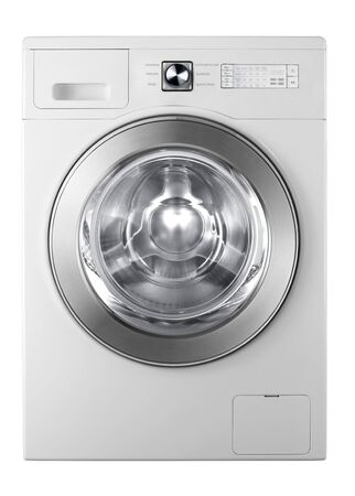 A washing machine isolated on white background Stock Photo - 17908895