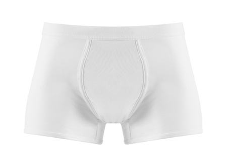 white pants: close up of man underwear