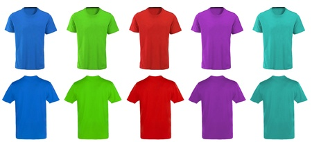 Color t-shirts design photo