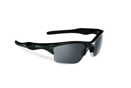 black sports sunglasses Stock Photo