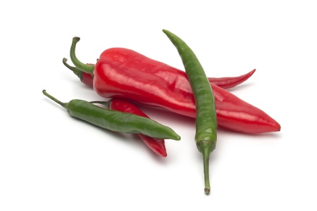 Chili pepper isolated on white background Stock Photo - 18921999