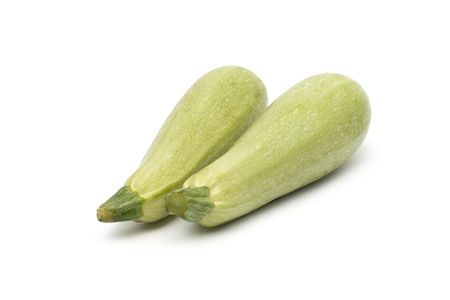 vegetable marrow: Fresh vegetable marrow. Isolated on white