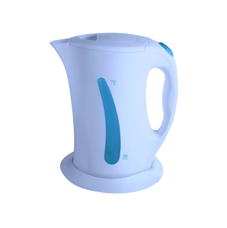 electric tea kettle: electric kettle isolated