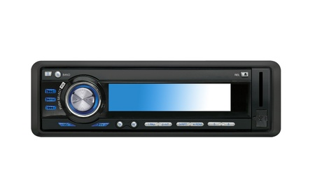 stereo cut: Modern car audio system isolated Stock Photo