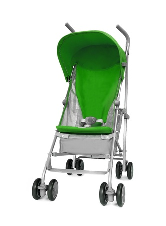 baby stroller: green Baby Carriage
