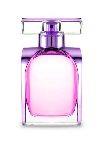 Perfume de las mujeres en botella hermosa aislado Foto de archivo - 21966758
