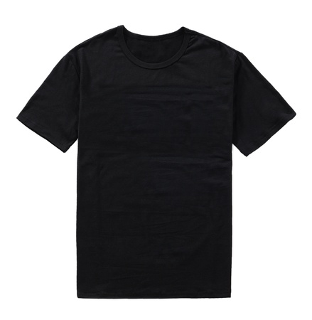 black t-shirt isolated Stock Photo
