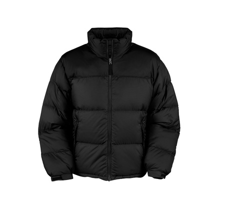 extracted: black male winter vest isolated