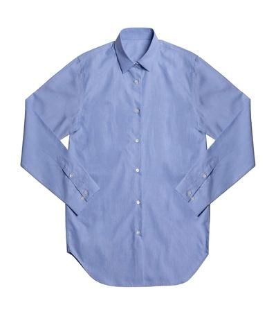 Camisa azul aisladas sobre fondo blanco Foto de archivo - 21967060
