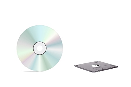 floppy disk and cd photo