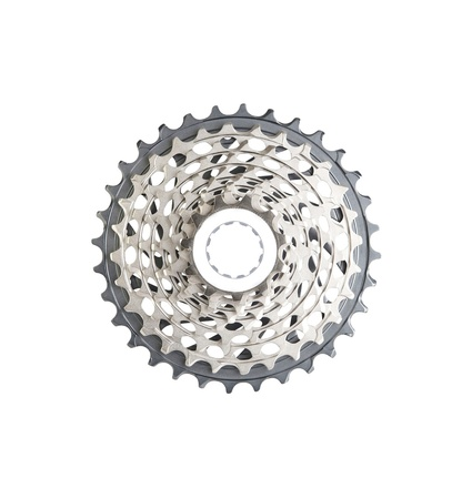 sprockets: bike cassette top view