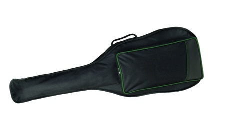guitar case: Black blank classical guitar case isolated Stock Photo