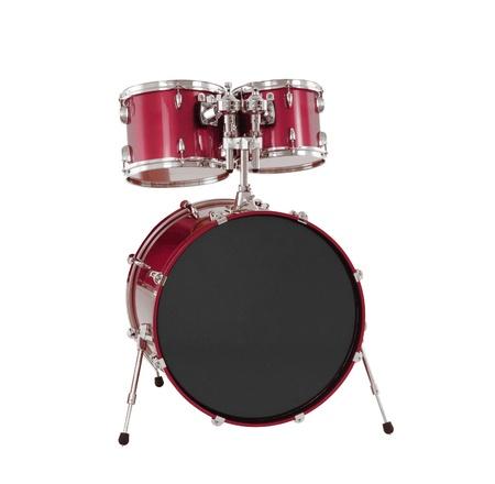 Ensemble de tambours rouges isol?s Banque d'images - 21968056