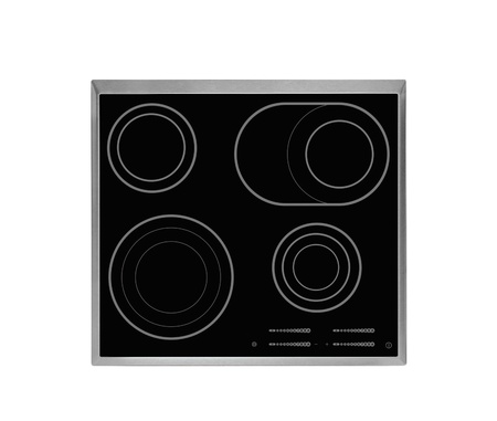 Electrical hob isolated photo