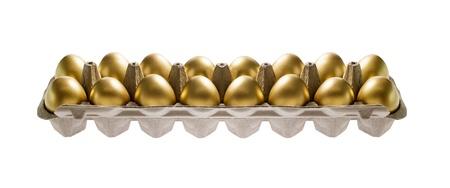 huevos de oro: Huevos de oro  Foto de archivo