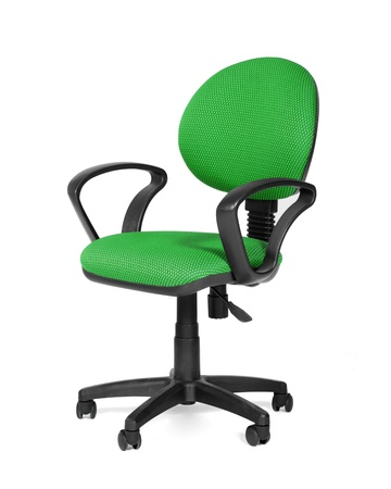 Green office chair photo