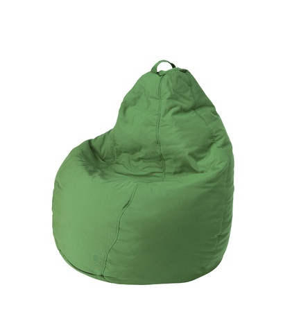 beanbag: Flexible and adjustable seat beanbag isolated on white
