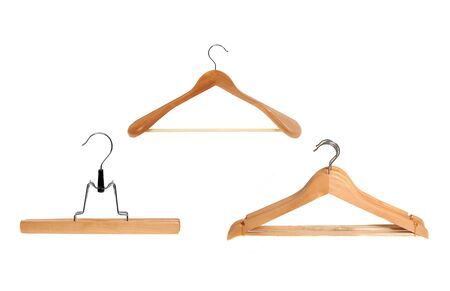 wooden clothes hanger set photo