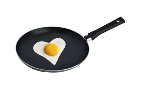 fried egg in the heart photo