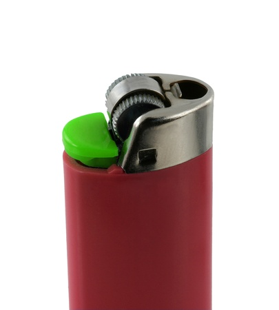 nice cigarette lighter isolated on white background photo