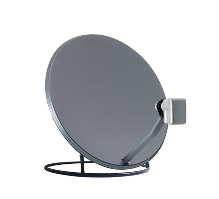 parabolic mirror: isolated satelite dish on white background