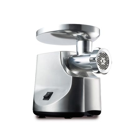 electric meat grinder isolated