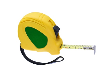 tape measure isolated on white background photo