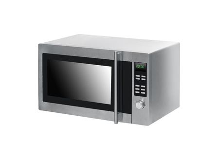 microwave oven on background photo