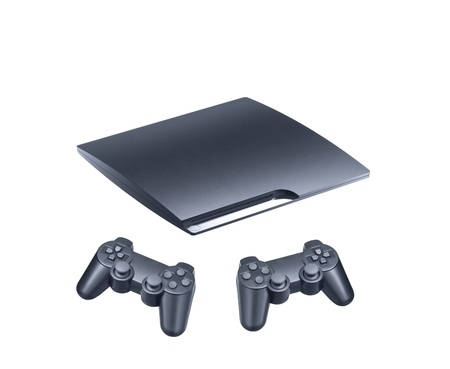 playstation: Console accessories on white