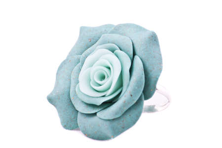 Ring of blue roses isolated on white Stock Photo - 21992623