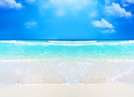 beach and tropical sea beach and tropical sea background photo