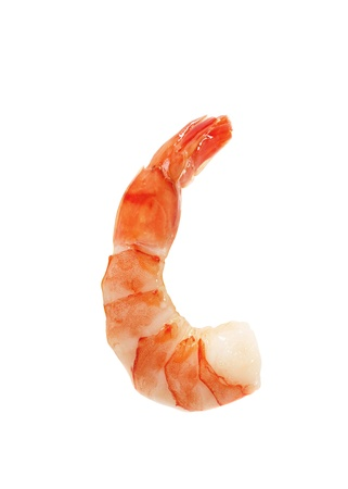 Closeup view of shrimp isolated photo