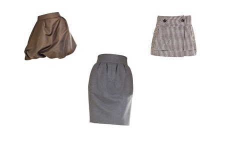 habiliment: skirts isolated on white background Stock Photo