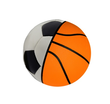football with baketball - concept sports balls Stock Photo - 21992863
