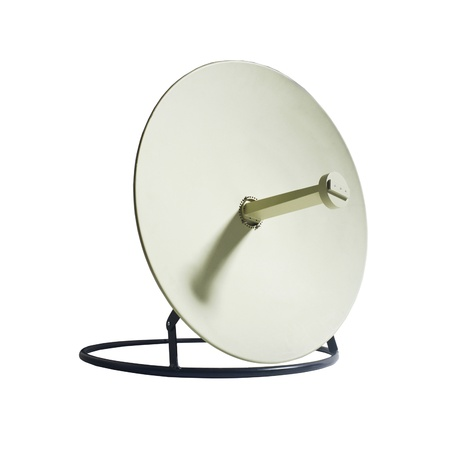 parabolic: Receiver.Satelite dish isolated on white backgroun