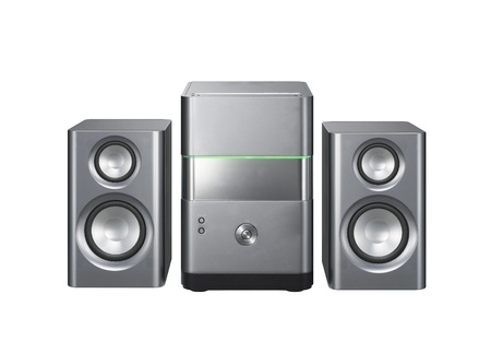 surround system: gray music center