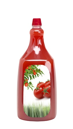bottle of tomato ketchup photo